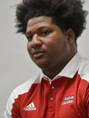 Raynard Ford, once a quarterback, moves from the offensive line to tight end for the Ragin' Cajuns this season.