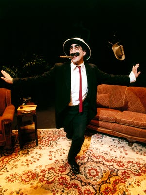 """Frank Ferrante as Groucho Marx, as seen in """"An Evening With Groucho,"""" to be presented Nov. 9-Dec. 17 in the Playhouse in the Park's Shelterhouse Theatre."""
