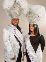 "Albert E. Babineaux Jr.  King L""Overture and Tanner Elizabeth Babineaux Queen Simmone reign over the Lafayette Mardi Gras Festival. Wednesday, Feb. 7, 2018."