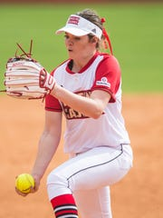UL pitcher Summer Ellyson threw 11 innings and 185 pitches to earn a 4-3 win over No. 2-ranked Florida in 11 innings.