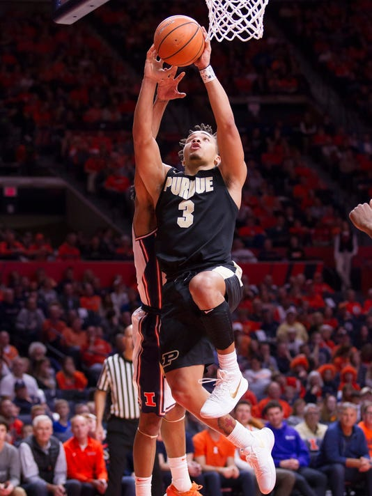 NCAA Basketball: Purdue at Illinois