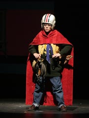 "Actor Noah Liggett poses in an archived photo of the Des Moines Community Playhouse production of ""The Life and Times of the Thunderbolt Kid."" The 2009 show, based the memoir by Iowa author Bill Bryson, stands as the best-selling show in Des Moines Playhouse history, with 6,551 people attending in its three-week run."