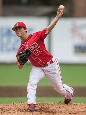 UL freshman Austin Perrin, shown here against Wright State earlier this season, struck out a career-high six in a 4-2 win over Texas-Arlington on Saturday night.