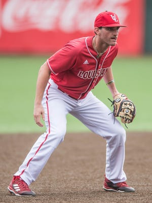 After hurting his back and leaving LSU, St. Thomas More High product O'Neal Lochridge has played third and first base for the Ragin' Cajuns this year. UL and LSU meet Wednesday night at The Tigue.