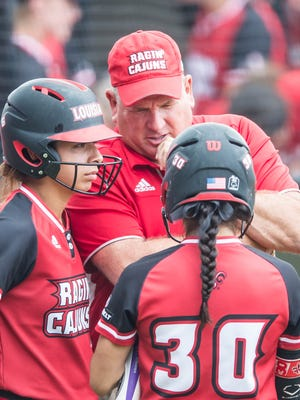 UL coach Gerry Glasco has reached the midseason point in his first season as the Cajuns' head coach. He's hoping his team can swing bigger bats in the second half.