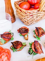 "BLT Crostini from ""Andrea's Cooktales."""