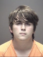 Dimitrios Pagourtzis, 17, is pictured in a mugshot released by the Galveston County Sheriff's Office. Pagourtzis is being held on capital murder charges in the shooting at Santa Fe High School and is being held at the Galveston County Jail. Mandatory Credit: Galveston County Sheriff's Office via USA TODAY NETWORK ORG XMIT: BBwmKzta8m5fw1dKF89Y (Via OlyDrop)