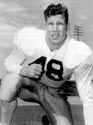 """Thurman """"Fum"""" McGraw was CSU's first All-American and his No. 48 is retired by the school."""