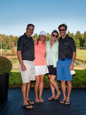 First Place Team winners in the 46th annual Greater Rochester Chamber of Commerce Golf Tournament were T.J. Jean, Shelley Bushway, Jill Dross and Brooks McQuade