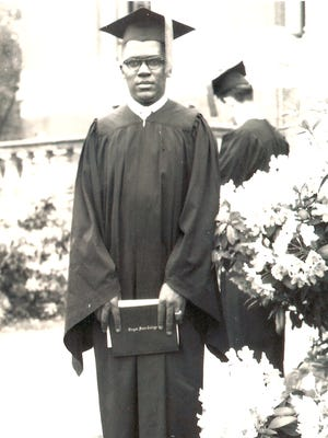 """William Tebeau, the first black male graduate of Oregon State University. He went on to become a civil engineer with the state. The photo is part of the show """"Perseverance: Black Pioneers in Early Oregon"""" at the Oregon Historical Society."""