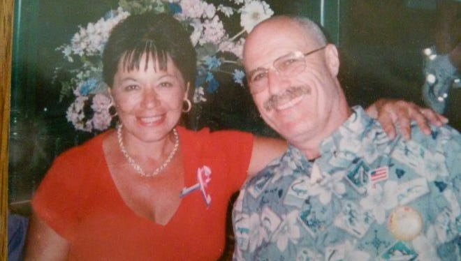 Frank Miccio with his wife, Pat. She was diagnosed with breast cancer in 2010. She died from lung cancer last year.