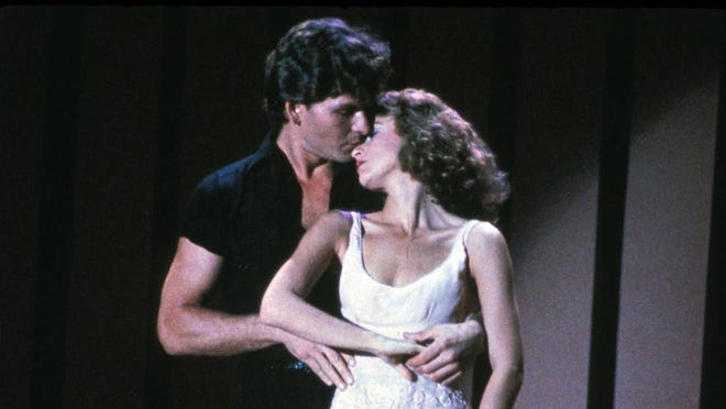 "Patrick Swayze and Jennifer Grey star in the 1987 movie ""Dirty Dancing."" The film is playing Saturday, Sunday and Thursday at the Magic City Drive-In in Barberton and through Thursday at the Midway Twin Drive-In Ravenna."
