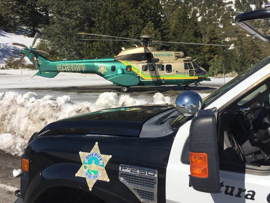 A volunteer rescue squad from the Ventura County Sheriff's