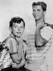 """This photo is from Sept. 7, 1961, with Jerry Mathers, who played, Theodore """"Beaver"""" Cleaver, and Tony Dow, Wally Cleaver, in """"Leave It to Beaver."""""""