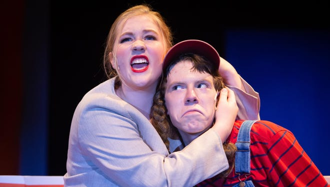 """Campbell County High School students performing in """"Disaster! the Musical."""""""