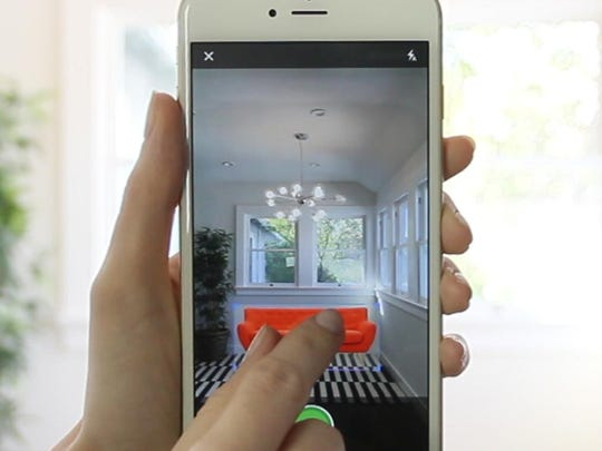 Houzz.com's app now has a View in my Room feature.