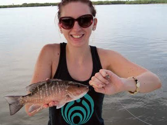 Emily Levy, mangrove snapper.