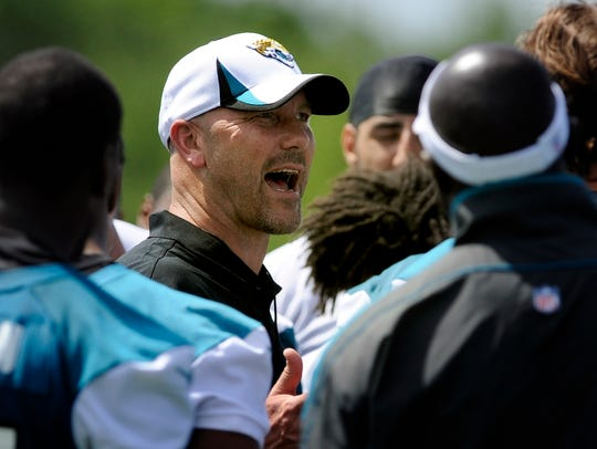 Jacksonville Jaguars first year head coach Gus Bradley
