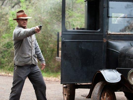 "Tom Hardy appears in a scene from ""Lawless."""