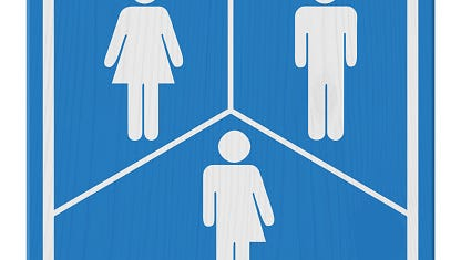 Stock image of a transgender bathroom sign.