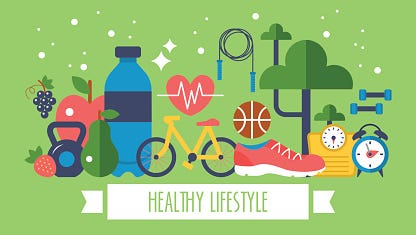 Healthy lifestyle: food and sport