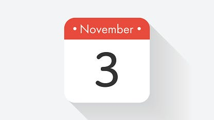 Calendar November 3