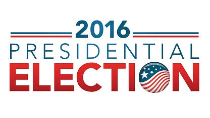 2016 Presidential Election with pin button or badge