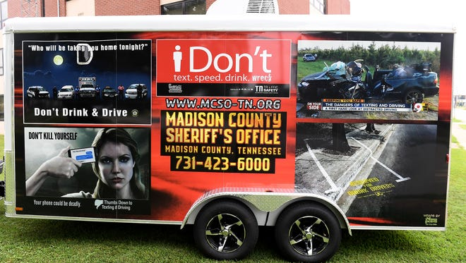 The Madison County Sheriff's Office's has wrapped the trailor that houses their distracted driving simulator. The MCSO Community Outreach officers take the simulator around to teach about the dangers of distracted driving.