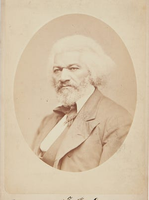 This signed photo of abolitionist Frederick Douglass will be sold at auction on Thursday, March 29, 2018, in New York.
