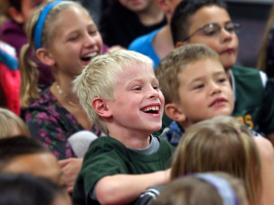 Isaac Addy, a Glenwood Elementary School third-grader,