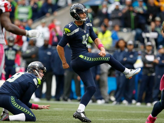 Stephen Hauschka's 87.2 percent career success rate on field goals ranks third in NFL history.