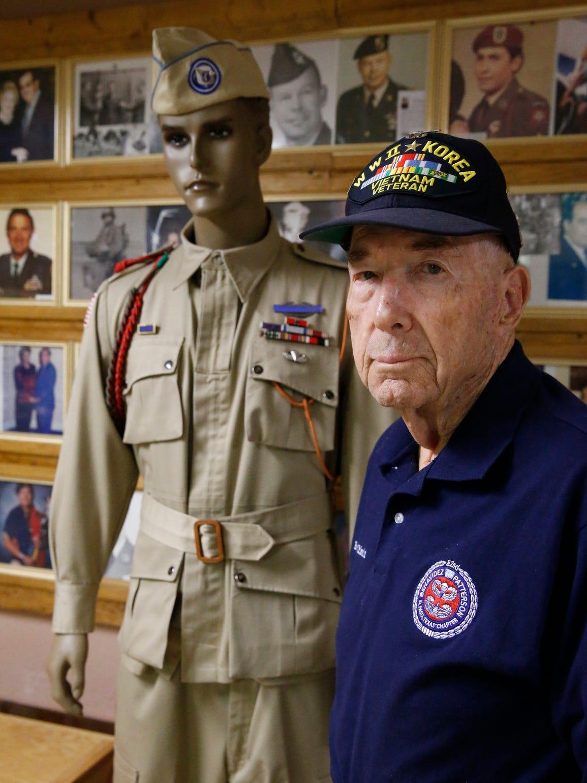World War II veteran and retired Lt. Col. Robert E.