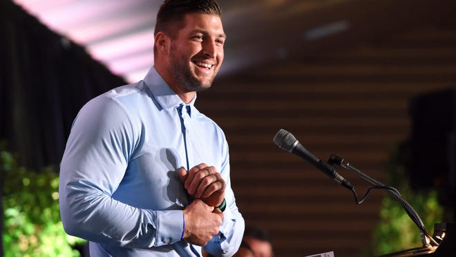 Former Gators quarterback Tim Tebow speaks in 2017 about the Florida-Georgia game and its meaning to his family.