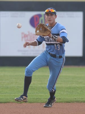 Cameron Parikh lines up to catch a short hop during his game against Central Lafourche. The senior will sign with Louisiana Tech Monday at the school.