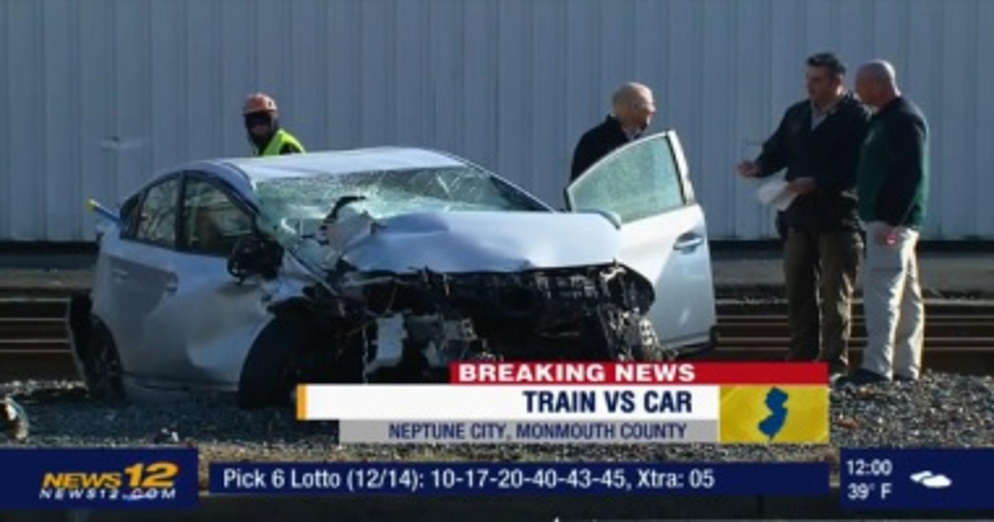 car crashes into train in bradley beach