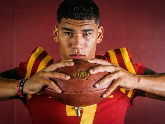 Iowa State senior receiver Allen Lazard of Urbandale
