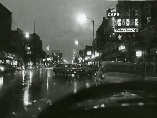 Looking west on St. Germain Street, the OK Cafe is
