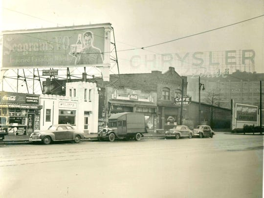 A white-walled White Tower Hamburgers is shown on 12035 East Jefferson in this historic photo. The restaurant was opened May 29, 1929.