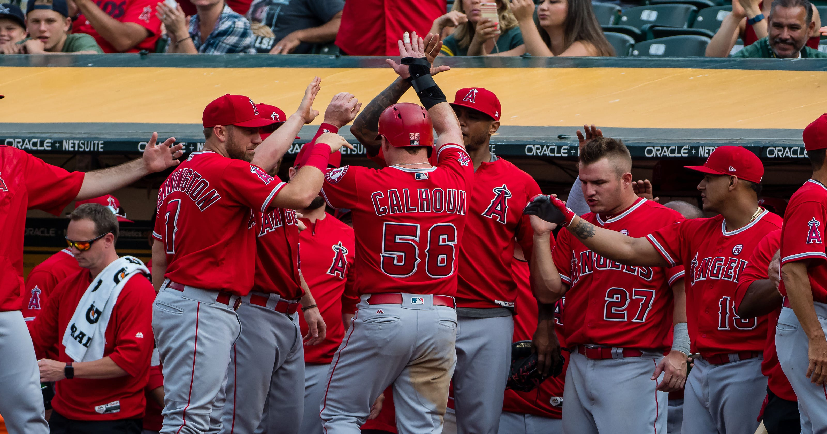 29a06d06f21 Angels set AL record using 12 pitchers in extra-innings win against  Athletics
