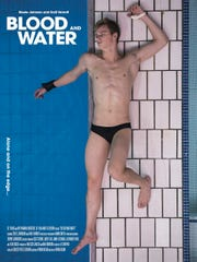 "This is a poster for the film ""Blood and Water,"" in which diver Steele Johnson has a starring role."