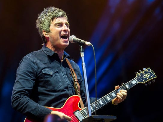 Noel Gallagher performs during the concert of his band
