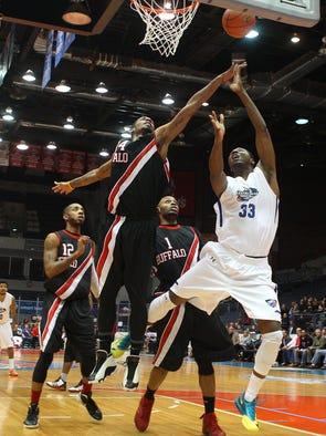 The Rochester RazorSharks defeated Buffalo 108-92 on Tuesday.