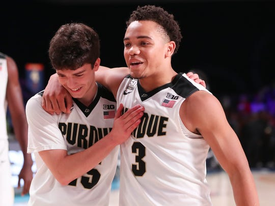 Purdue Boilermakers guard Carsen Edwards (3) and  guard