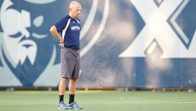 Xavier soccer coach Andy Fleming.