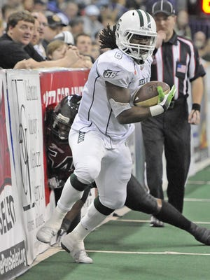 La'Ron Council (6) rushed for an Indoor Football League record 1,040 yards in 2012 for the Green Bay Blizzard.
