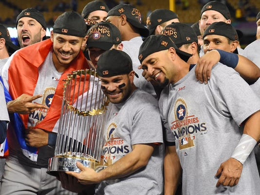 USP MLB: WORLD SERIES-HOUSTON ASTROS AT LOS ANGELE S BBN LAD HOU USA CA