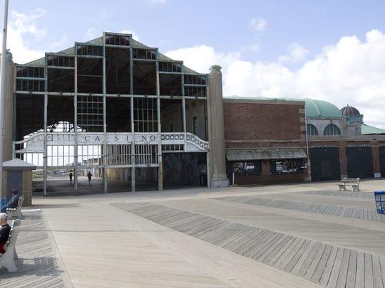 The Casino building in Asbury Park.
