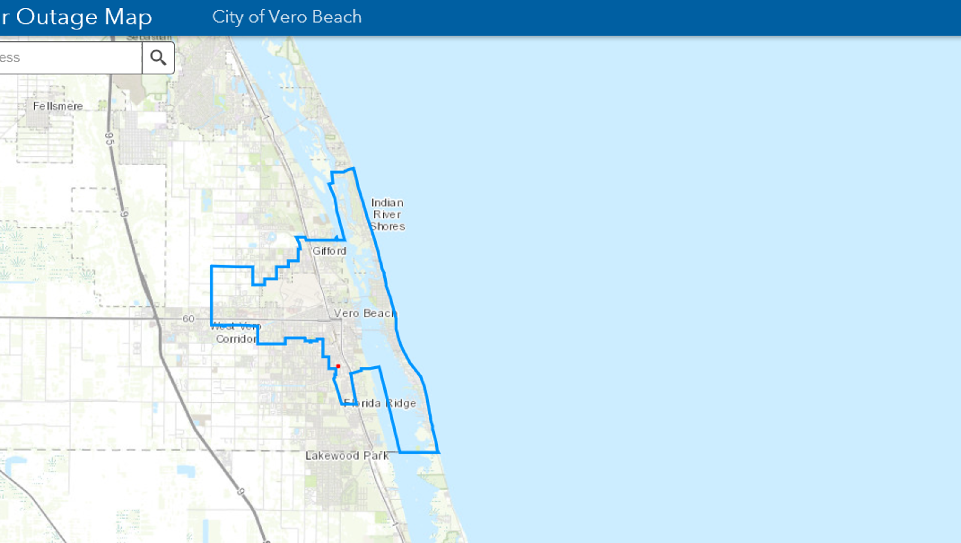 Street Map Of Vero Beach Florida.Vero Beach Electric Customers Can Now Find Power Outages Online