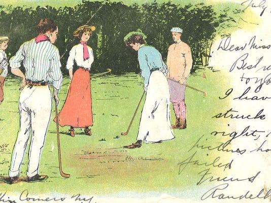 Fig. 11 Postcard, Playing Golf, 1905