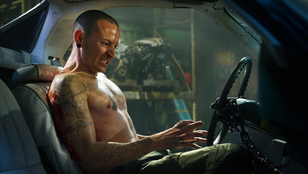 Chester Bennington finds himself in a sticky situation with the Horsepower Trap.